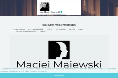 Maciej Majewski Psycholog Psychoterapeuta - Przychodnie Gostynin