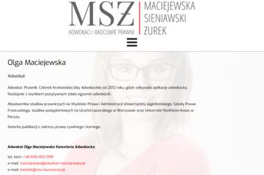 Adwokat Olga Maciejewska - Kancelaria Adwokacka - Adwokat Karnista Kraków