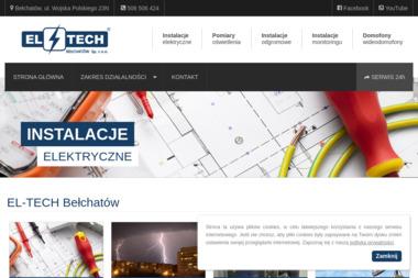 EL-TECH Bełchatów Sp. z o.o. Instalacje elektryczne, elektryk - Alarm Domowy Bełchatów