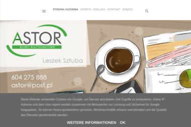 Sztuba Leszek Firma Astor - Rachunki bankowe Leszno