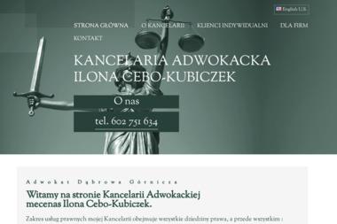 Kancelaria Adwokacka Ilona Cebo-Kubiczek - Kancelaria Prawna Dąbrowa Górnicza