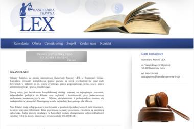 Kancelaria Prawna LEX - Pomoc Prawna Kamienna Góra