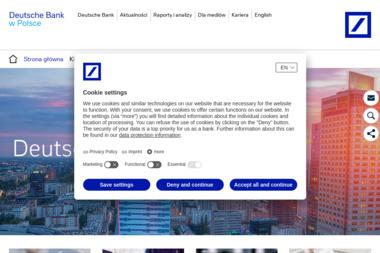 Deutsche Bank Polska Spółka Akcyjna - Kredyt konsolidacyjny Warszawa
