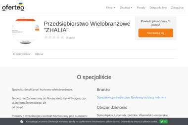 """Przedsiębiorstwo Wielobranżowe""""ZHALIA"""" - Doradztwo, pośrednictwo Bydgoszcz"""