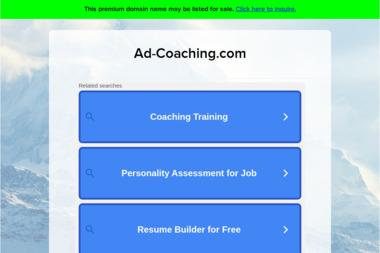 Ad-Coaching. Coaching, coaching osobisty - Szkolenia menedżerskie Gdańsk