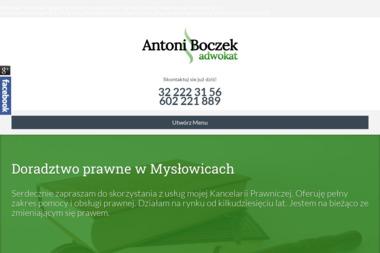 Adwokat Antoni Boczek - Adwokat Mysłowice - Antoni Boczek - Kancelaria Adwokacka Mysłowice