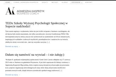 Coach Agnieszka Kasprzyk-Mączyńska. Coaching, doradztwo, biznes - Szkolenia menedżerskie Gdańsk