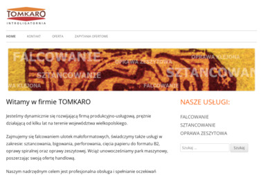 Tomkaro S.C. Tomasz Stokłosa Karol Stokłosa - Sztancowanie Poznań