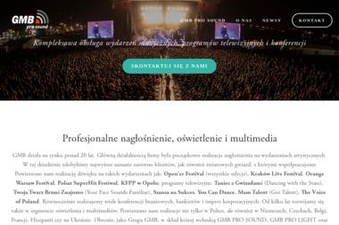 Gmb Pro Sound Sp. z o.o. - Nagłośnienie, oświetlenie Warszawa