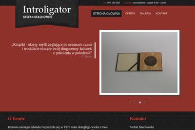 Introligator Stefan Stachowski. Introligator, oprawa - Drukarnia Oława