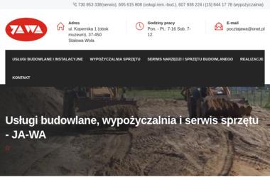 F.H.U JA-WA Wacław Jaworski - remonty, wypożyczalnia narzędzi i sprzętu budowlanego - Maszyny budowlane Stalowa Wola