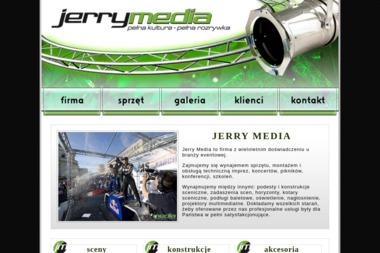 Jerry Media. Technika estradowa, wynajem sceny, wynajem sceny - Nagłośnienie, oświetlenie Warszawa