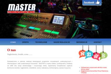 Master. Usługi nagłośnieniowe - Nagłośnienie, oświetlenie Marki