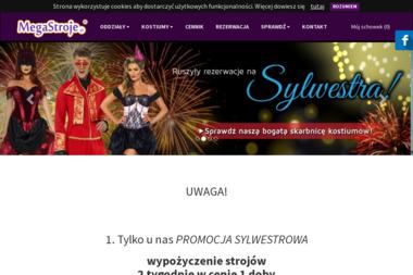 MegaStroje.pl - Całoroczna wypożyczalnia strojów dla dzieci i dorosłych - Wypożyczalnia sukien Gdańsk