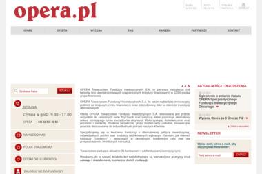 Opera Specjalistyczny Fundusz Inwestycyjny Otwarty - Venture capital Warszawa