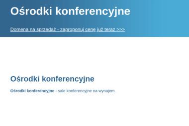 Ośrodkikonferencyjne.pl. Konferencje, sale konferencyjne - Agencja Fotomodelek Olsztyn