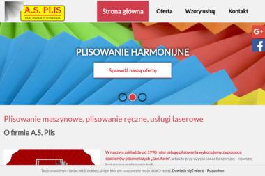 A.S. Plis Pracownia Plisowania i Kreszowania - Uszlachetnianie materiałów Łódź