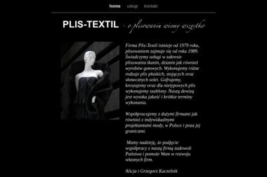 Grzegorz Kaczelnik Plis Textil - Uszlachetnianie materiałów Karczew