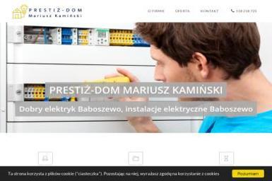 Prestiż-Dom Mariusz Kamiński - Firma Elektryczna Baboszewo
