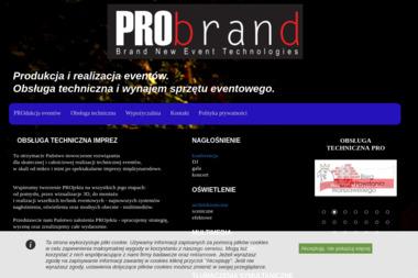 PRObrand Sp. z o.o. - Nagłośnienie, oświetlenie Warszawa