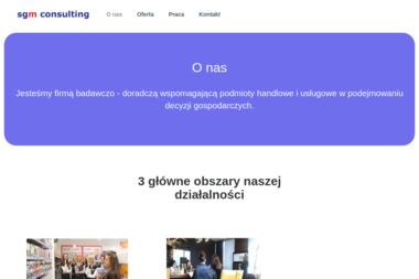 SGM Consulting. Badania marketingowe, finanse, zakupy - Firma audytorska Lusowo