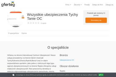 Wszystkie ubezpieczenia Tychy Tanie OC - Ubezpieczenia OC Tychy