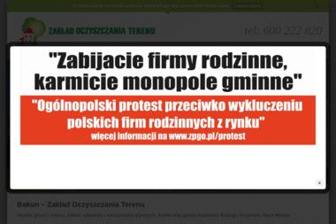 """Zakład Oczyszczania Terenu """"Bakun"""" - Wywóz Papy Krzymów"""
