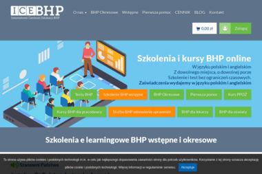Internetowe Centrum Szkoleń BHP ICEBHP.PL - Szkolenia BHP Warszawa
