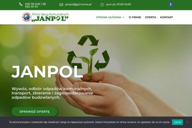 """Firma Usług Komunalnych """"Janpol"""" - Wywóz Gruzu Gdańsk"""