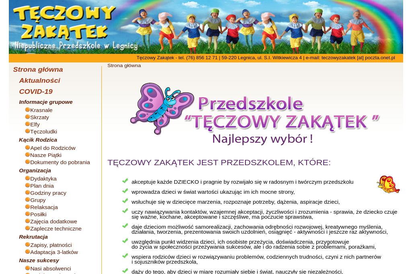 """""""Tęczowy Zakątek"""" Przedszkole Niepubliczne - Przedszkole Legnica"""