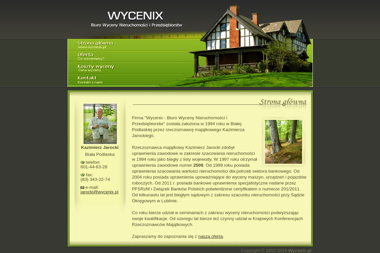 Wycenix - Biuro Wyceny Nieruchomości i Przedsiębiorstw - Firma audytorska Biała Podlaska