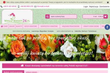 Kwiaciarnia internetowa Wyslijkwiaty24.pl - Giełda rolnicza Szczecin