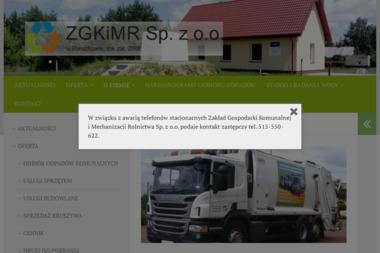 Zakład Gospodarki Komunalnej i Mechanizacji Rolnictwa Sp. z o.o. - Utylizacja Gruzu Baruchowo