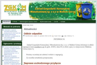 Zakład Gospodarki Komunalnej i Mieszkaniowej - Wywóz Gruzu Zdzieszowice