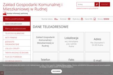 Zakład Gospodarki Komunalnej i Mieszkaniowej - Odbiór Gruzu Rudna