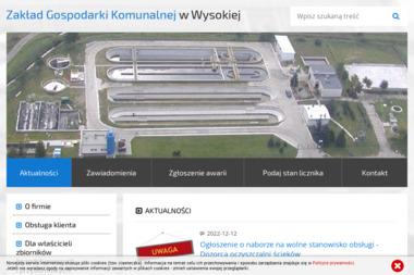 Zakład Gospodarki Komunalnej - Wywóz Papy Wysoka