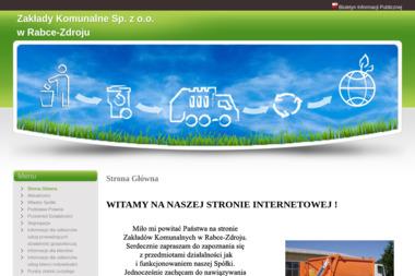 Zakłady Komunalne Sp. z o.o. - Wywóz Gruzu Rabka-Zdrój