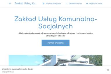 Zakład Usług Komunalno-Socjalnych - Wywóz Ziemi Legionowo