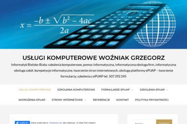 Usługi Komputerowe Woźniak Grzegorz - Szkolenia Bielsko-Biała