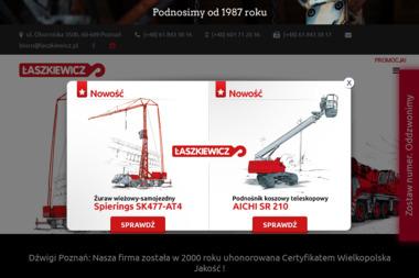 Łaszkiewicz-Usługi dźwigiem i wysięgnikiem koszowym - Maszyny Budowlane Używane Rusocin