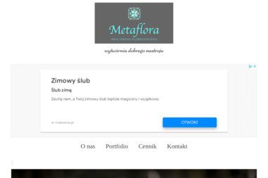 Pracownia Florystyczna Metaflora. Wiązanki ślubne, bukiety okolicznościowe - Wystrój Sali Weselnej Warszawa