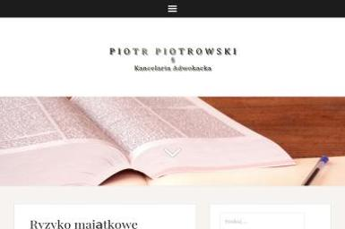 Kancelaria Adwokacka Adwokat Piotr Piotrowski - Obsługa prawna firm Gdańsk