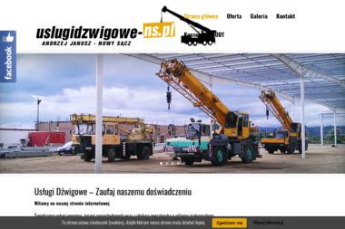 Usługi Dźwigowe Andrzej Janusz - Dźwigi Krynica Zdrój