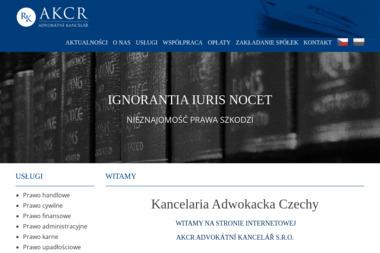 AKCR Advokatni kancelar s.r.o. - Porady Prawne Praga