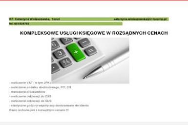 KF Katarzyna Winiaszewska - Biuro rachunkowe Toruń