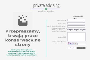 MG PRIVATE ADVISING Doradztwo Prywatne Marcin Gerton - Firma konsultingowa Warszawa