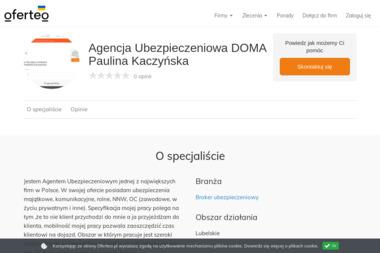 Agencja Ubezpieczeniowa DOMA Paulina Kaczyńska - Broker Ubezpieczeniowy Świdnik