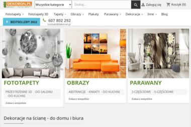 Dekoran.pl - obrazy i fototapety - Gotowy Sklep Internetowy Morawica