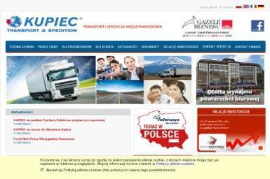 Kupiec spółka akcyjna - Firma transportowa Tarnów