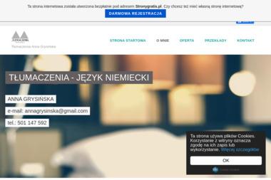 Anna Grysińska Tłumaczenia - Biuro Tłumaczeń Poznań